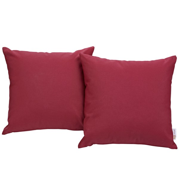2 Modway Furniture Convene Red Outdoor Patio Pillows EEI-2001-RED