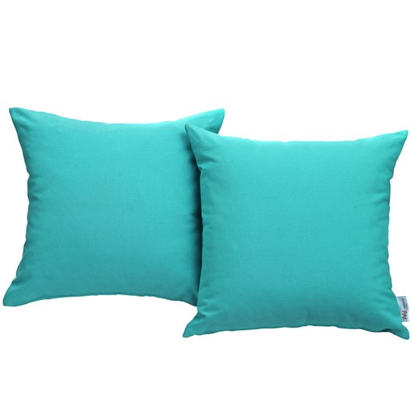 2 Modway Furniture Convene Turquoise Outdoor Patio Pillows EEI-2001-TRQ