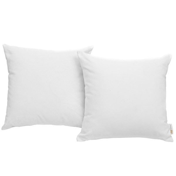 2 Modway Furniture Convene White Outdoor Patio Pillows EEI-2001-WHI