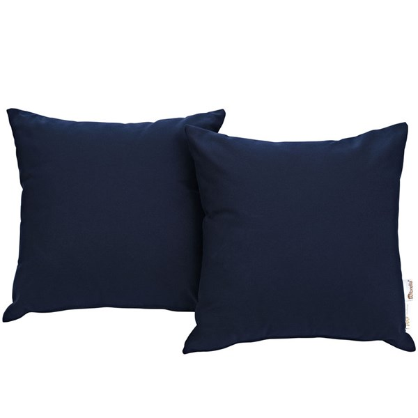 2 Modway Furniture Summon Navy Outdoor Patio Pillows EEI-2002-NAV