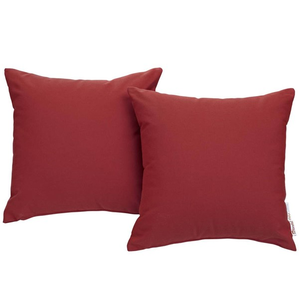 2 Modway Furniture Summon Red Outdoor Patio Pillows EEI-2002-RED