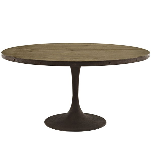 Modway Furniture Drive 60 Inch Round Dining Table EEI-2005-BRN-SET
