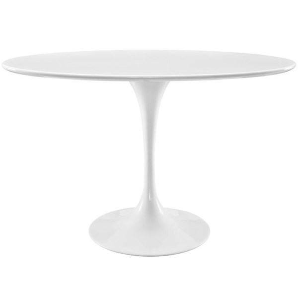 Modway Furniture Lippa 48 Inch Oval Wood Top Dining Table EEI-2017-WHI
