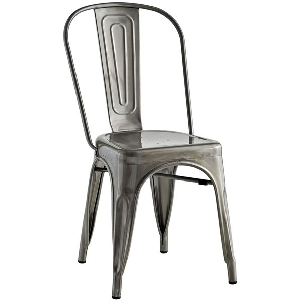 Promenade Modern Gunmetal Steel Side Chair EEI-2027-GME