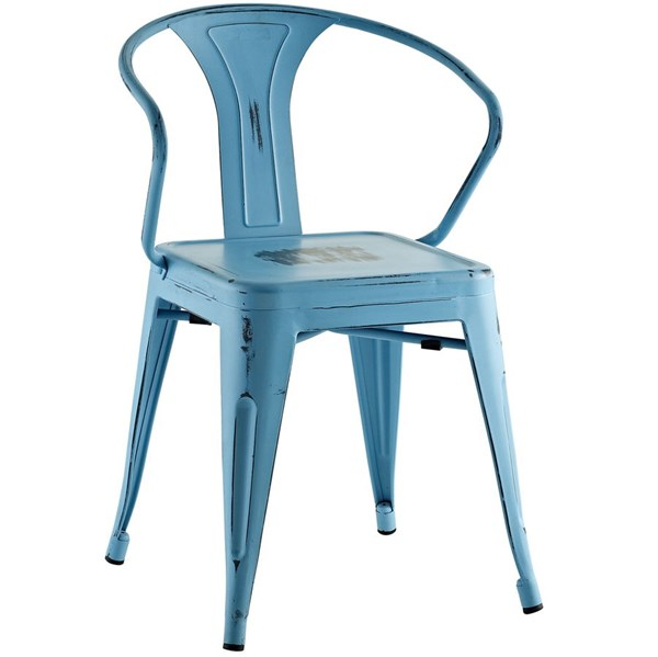 Promenade Modern Turquoise Steel Dining Chair EEI-2029-TRQ