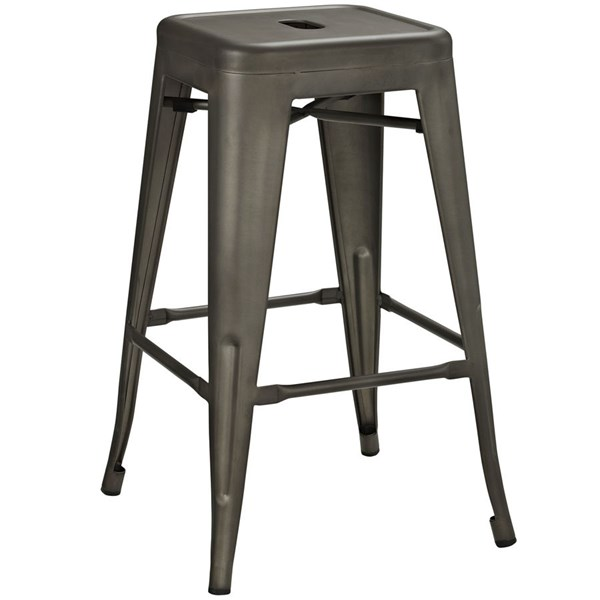 Promenade Modern Brown Steel Counter Stool EEI-2032-BRN