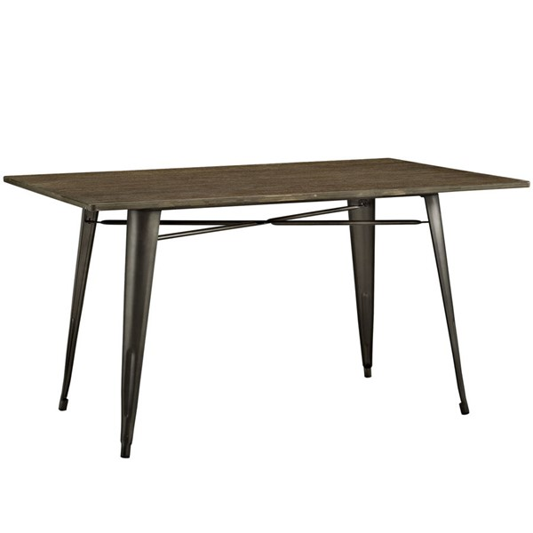 Modway Furniture Alacrity Brown 59 Inch Rectangle Dining Table EEI-2034-BRN