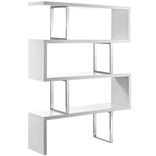 Modway Furniture Meander White Bookcase Stand EEI-2046-WHI-SET