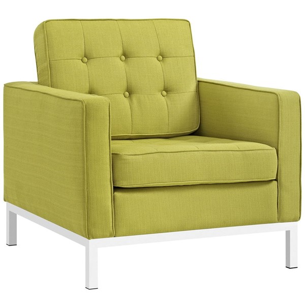 Loft Wheatgrass Fabric Steel Tufted Back Armchair EEI-2050-WHE