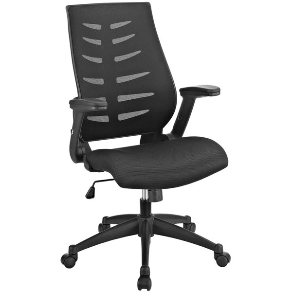 Force Black Mesh Fabric Metal Office Chairs EEI-2065-HOF-CH-VAR