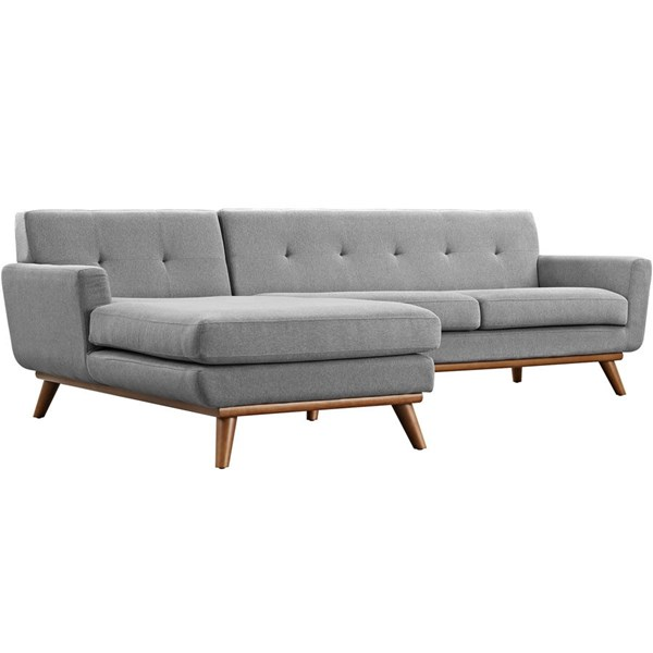 Modway Furniture Engage Expectation Gray Left Facing Sectional EEI-2068-GRY-SET