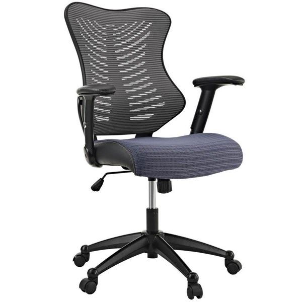 Modway Furniture Clutch Gray Office Chair EEI-209-GRY