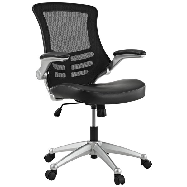 Attainment Black Mesh PU Adjustable Height Office Chairs EEI-210-HOF-CH-VAR