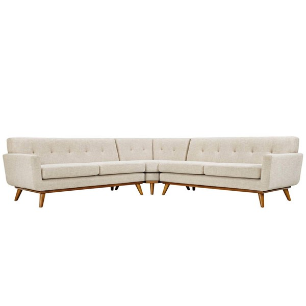 Modway Furniture Engage Beige L Shaped Sectional EEI-2108-BEI-SET