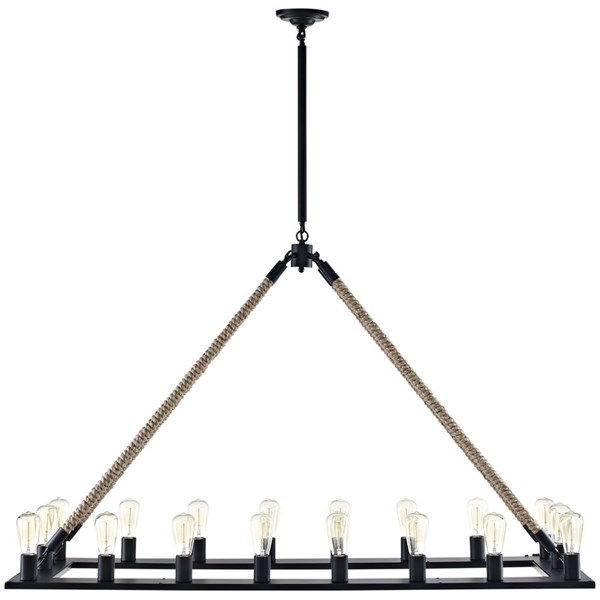 Bridge Modern Brown Steel Pendent Chandelier EEI-2110-BRN