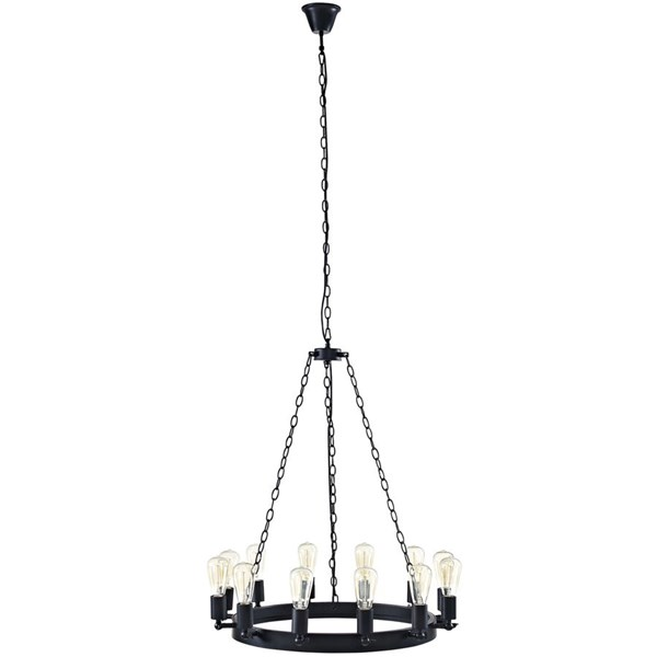 Teleport Modern Brown Steel 29 Inch Chandelier EEI-2116-BRN