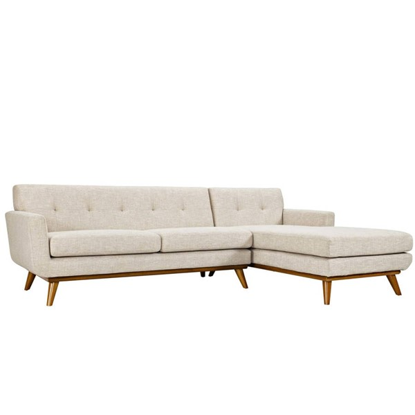 Modway Furniture Engage Beige Right Facing Sectional EEI-2119-BEI-SET