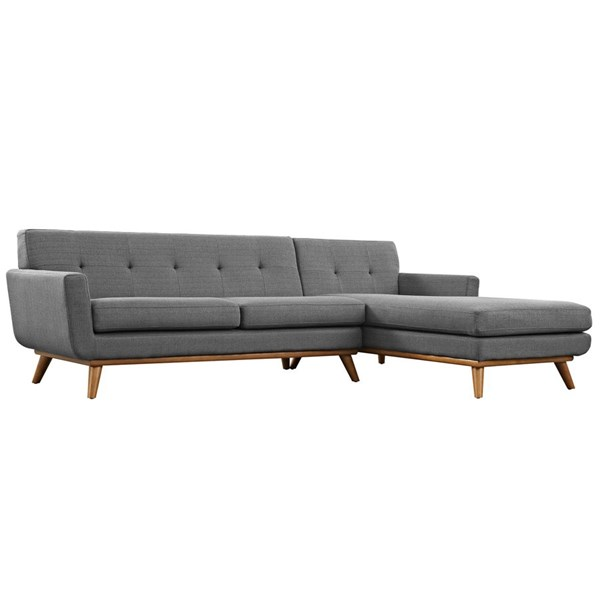 Modway Furniture Engage Gray Right Facing Sectional EEI-2119-DOR-SET