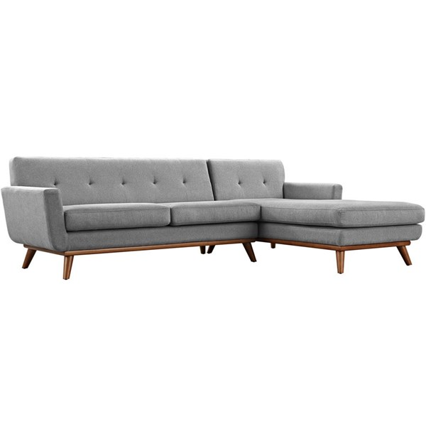 Modway Furniture Engage Expectation Gray Right Facing Sectional EEI-2119-GRY-SET