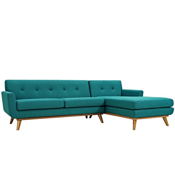 Modway Furniture Engage Teal Right Facing Sectional EEI-2119-TEA-SET