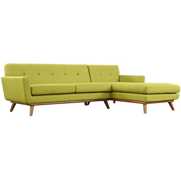 Engage Wheatgrass Fabric Wood Right Facing Sectional EEI-2119-WHE-SET