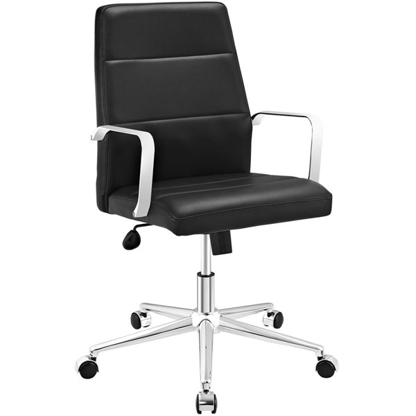 Modway Furniture Stride Black Mid Back Office Chair EEI-2121-BLK