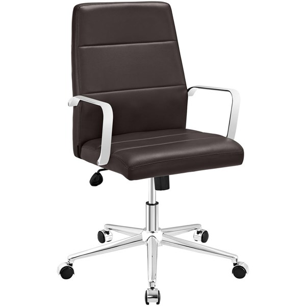 Modway Furniture Stride Brown Mid Back Office Chair EEI-2121-BRN