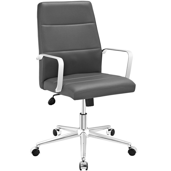 Modway Furniture Stride Gray Mid Back Office Chair EEI-2121-GRY