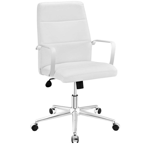 Modway Furniture Stride White Mid Back Office Chair EEI-2121-WHI