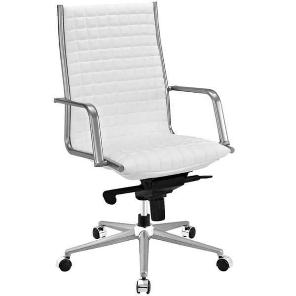 Modway Furniture Pattern White Highback Office Chair EEI-2122-WHI