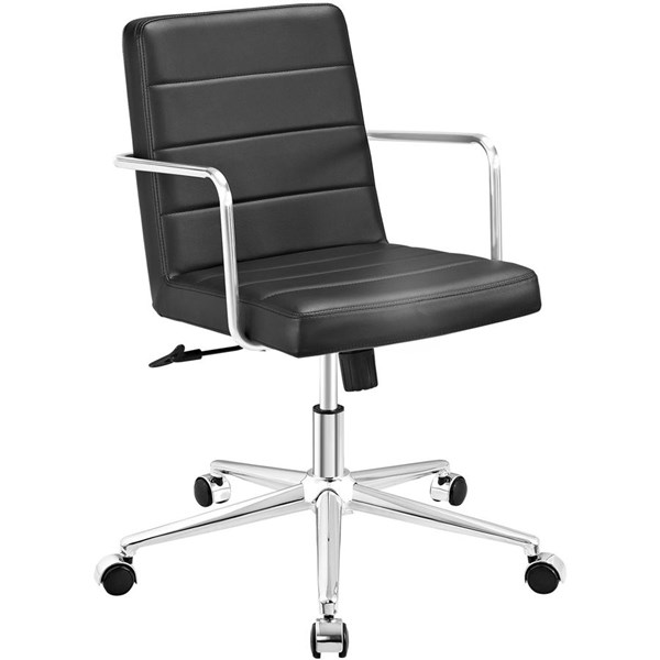 Modway Furniture Cavalier Black Mid Back Office Chair EEI-2125-BLK