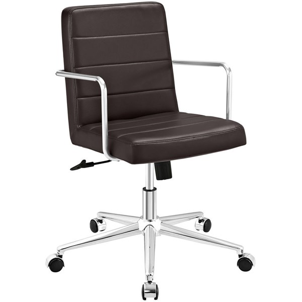 Modway Furniture Cavalier Brown Mid Back Office Chair EEI-2125-BRN