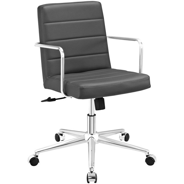 Modway Furniture Cavalier Gray Mid Back Office Chair EEI-2125-GRY