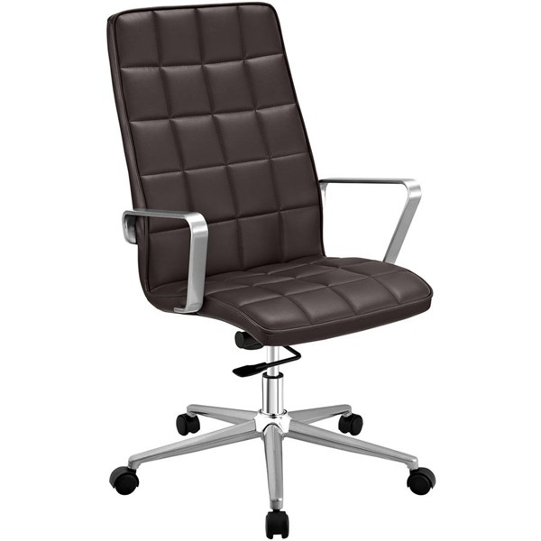 Modway Furniture Tile Brown Highback Office Chair EEI-2126-BRN