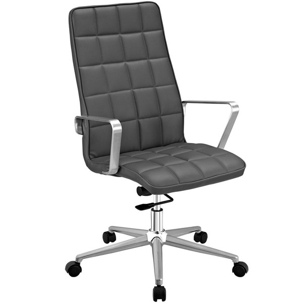 Modway Furniture Tile Gray Highback Office Chair EEI-2126-GRY