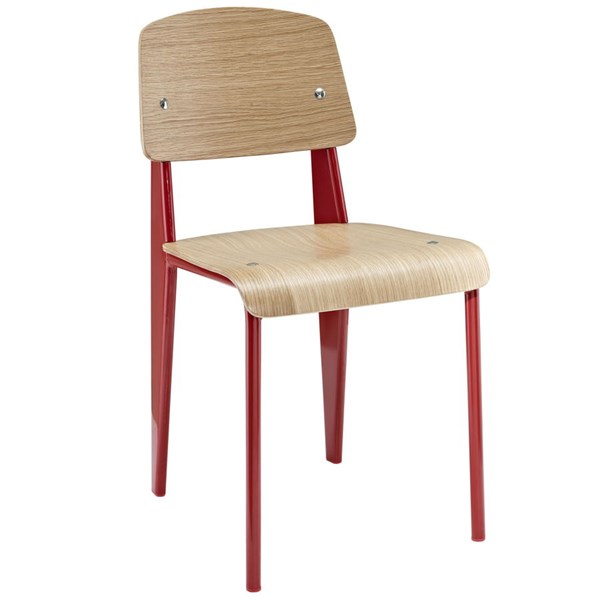 Modway Furniture Cabin Natural Red Dining Side Chair EEI-214-NAT-RED