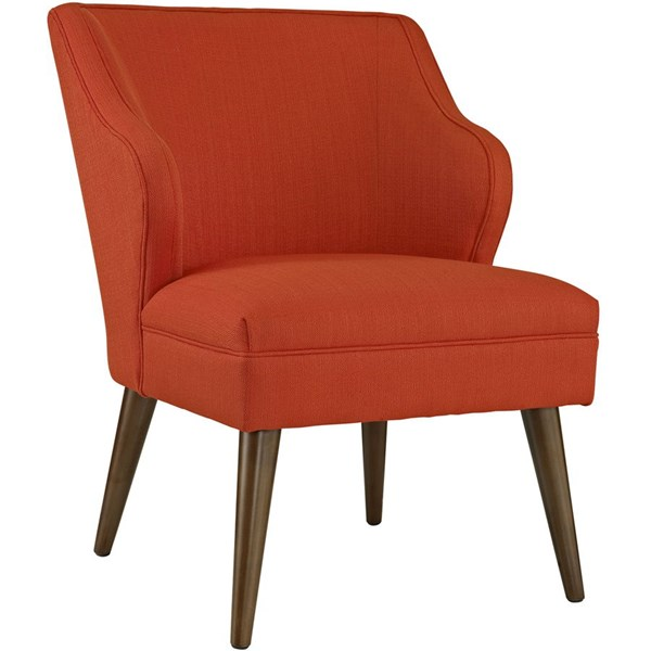 Swell Contemporary Atomic Red Fabric Solid Wood Armchair EEI-2148-ATO