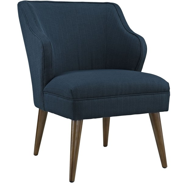 Swell Contemporary Azure Fabric Solid Wood Armchair EEI-2148-AZU