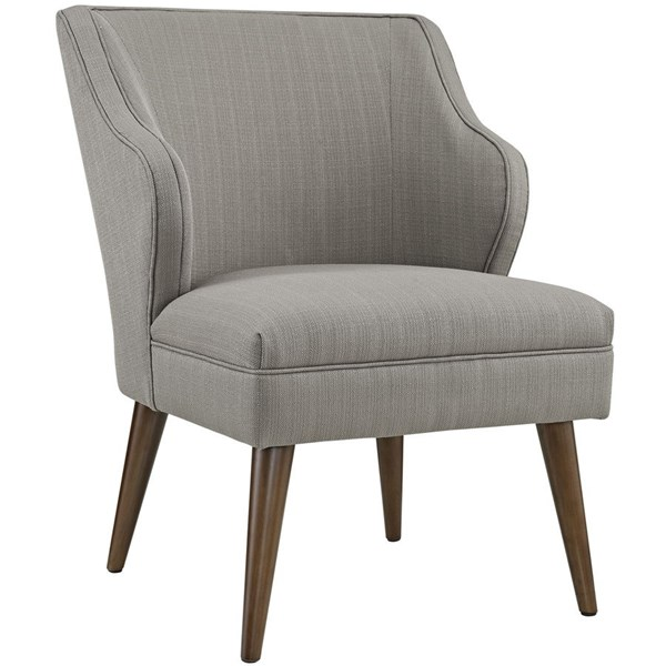 Swell Contemporary Granite Fabric Solid Wood Armchair EEI-2148-GRA