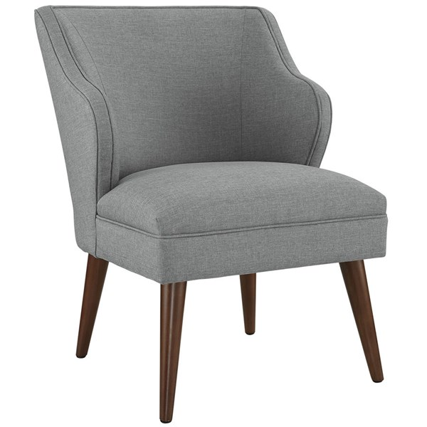Swell Light Gray Fabric Solid wood Armchair EEI-2148-LGR