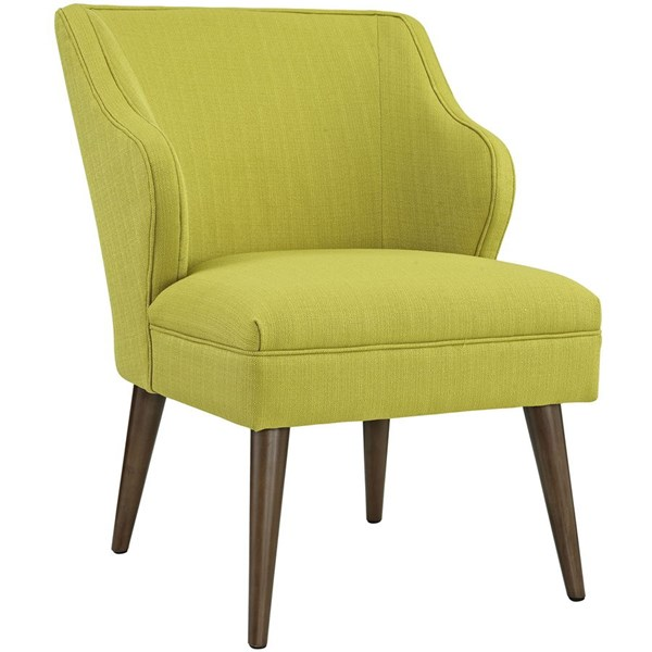 Swell Contemporary Wheatgrass Fabric Solid Wood Armchair EEI-2148-WHE