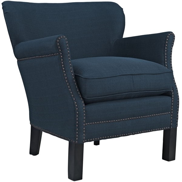 Key Contemporary Azure Fabric Solid Wood Armchairs EEI-2152-CH-VAR