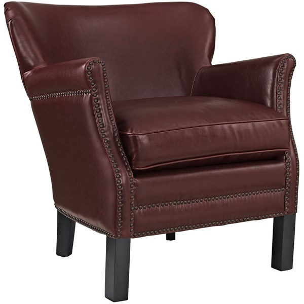 Key Contemporary Red PU Solid Wood Armchair EEI-2153-RED