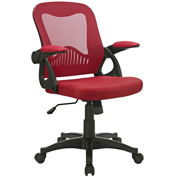 Advance Red Nylon Mesh Plastic Office Chair EEI-2155-RED