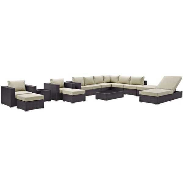 Modway Furniture Convene 12pc Outdoor Patio Sectional Sets EEI-2165-OS-SEC-VAR