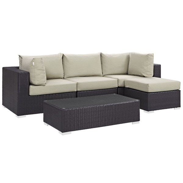 Modway Furniture Convene 5pc Outdoor Patio Sectionals EEI-2172-OS-SS-VAR