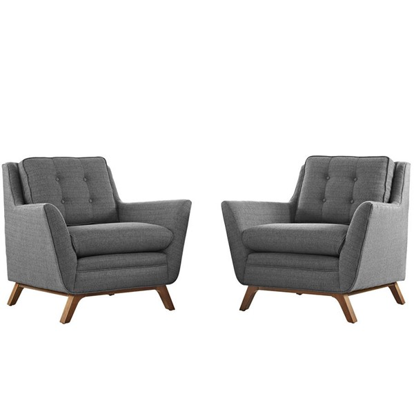 Modway Furniture Beguile Gray 2pc Living Room Chairs EEI-2185-DOR-SET