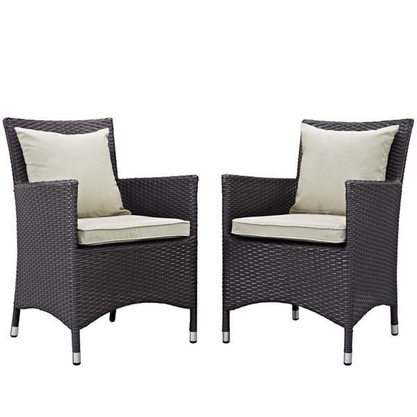 2 Modway Furniture Convene Outdoor Patio Dining Chairs EEI-2188-OD-DC-VAR