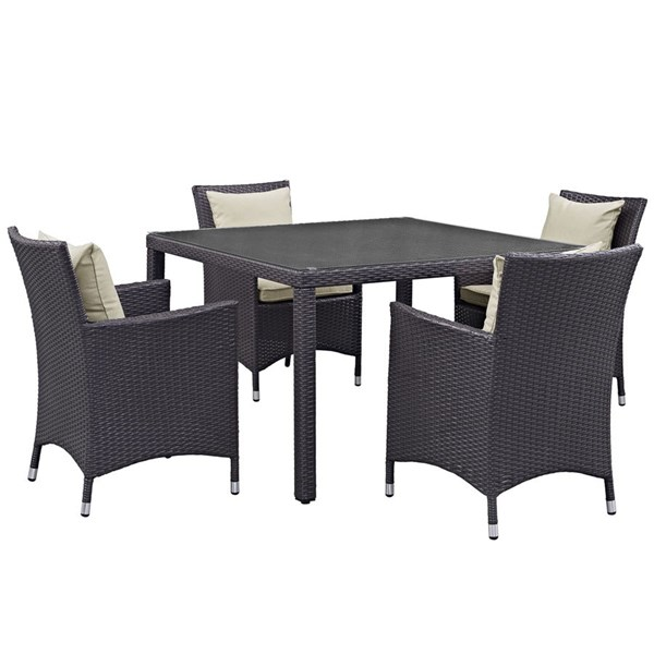 Modway Furniture 5pc Outdoor Patio Dining Sets EEI-2191-OD-DS-VAR