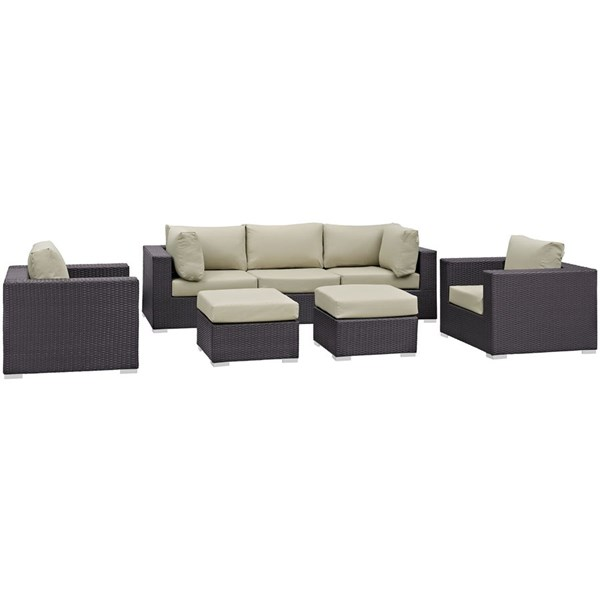 Modway Furniture Convene Fabric 7pc Outdoor Patio Sofa Sets EEI-2200-OS-SS-VAR